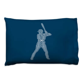 Baseball Pillowcase - Personalized Words