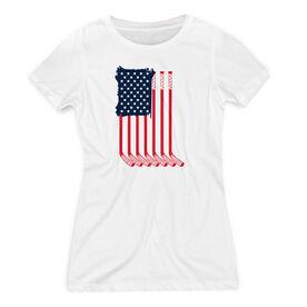 Hockey Women's Everyday Tee - American Flag