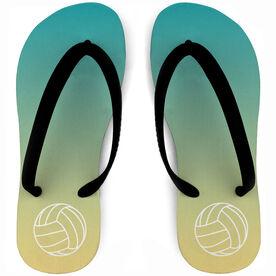 Volleyball Flip Flops Sunset Paradise