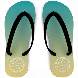 Volleyball Flip Flops Sunset Paradise