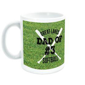 Softball Coffee Mug Team Dad Of