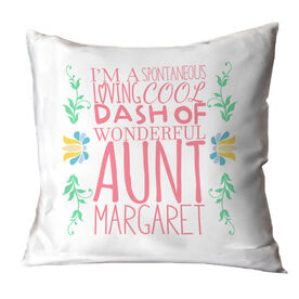 Personalized Throw Pillow - That's My Aunt