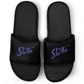 Figure Skating Black Slide Sandals - Born to Skate