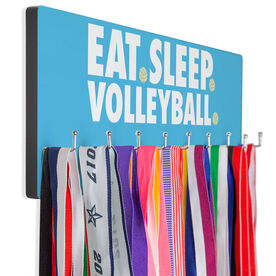 Volleyball Hooked on Medals Hanger - Eat Sleep Volleyball