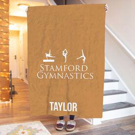 Gymnastics Premium Blanket - Custom Team Logo