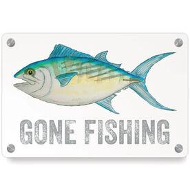 Fly Fishing Metal Wall Art Panel - Gone Fishing
