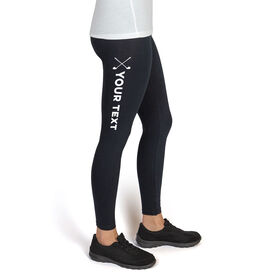 Golf High Print Leggings Your Text