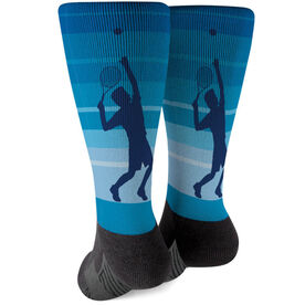 Tennis Printed Mid-Calf Socks - Tennis Guy