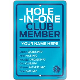 "Golf Aluminum Room Sign (18""x12"") Custom Hole In One"