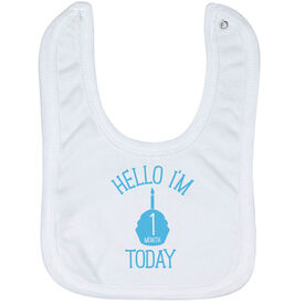 Personalized Baby Bib - Hello I'm (Age) Today