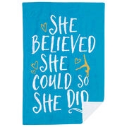 Gymnastics Premium Blanket - She Believed She Could So She Did