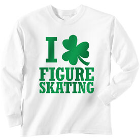 Figure Skating Tshirt Long Sleeve I Shamrock Figure Skating