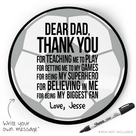 Soccer Circle Plaque - Dear Dad