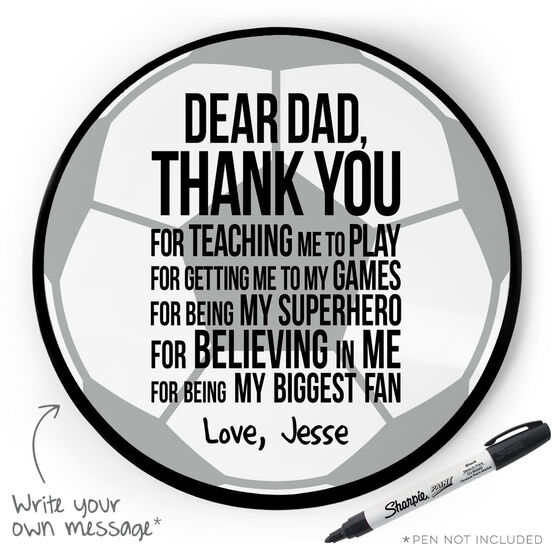 Soccer Circle Plaque - Dear Dad