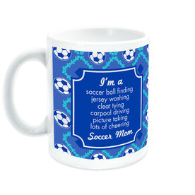Soccer Coffee Mug Mom Poem With Ball Pattern