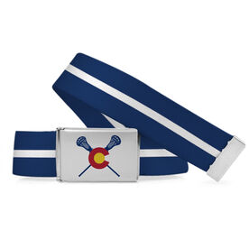 Lacrosse Lifestyle Belt Colorado Flag