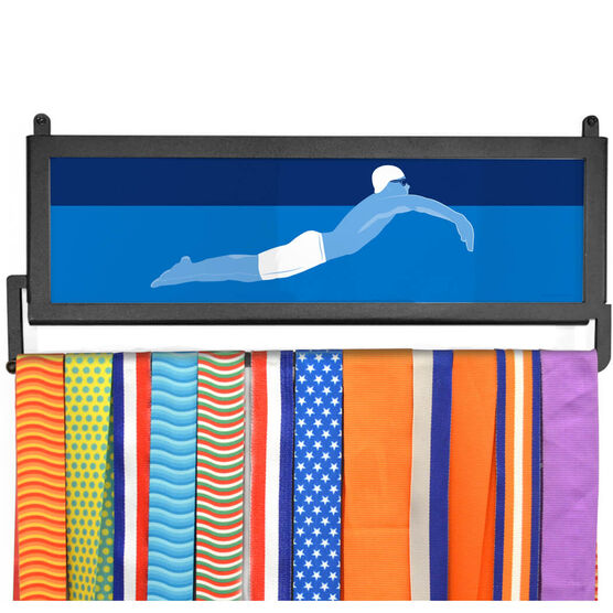 AthletesWALL Medal Display - Swimmer Guy