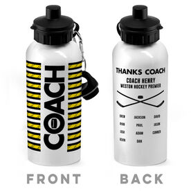 Hockey 20 oz. Stainless Steel Water Bottle - Coach With Roster