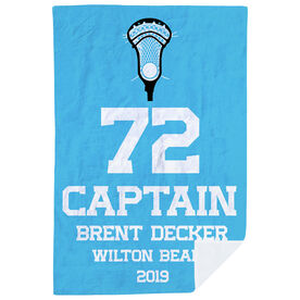 Guys Lacrosse Premium Blanket - Personalized Captain