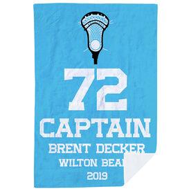 Guys Lacrosse Premium Blanket - Personalized Captain