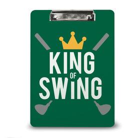 Golf Custom Clipboard King of Swing