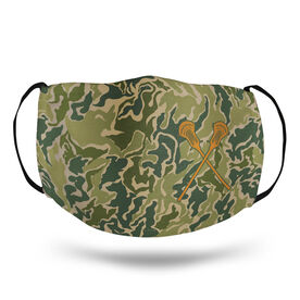 Guys Lacrosse Face Mask - Hunter Camo Lacrosse