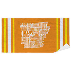 Running Premium Beach Towel - Arkansas State Runner
