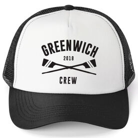 Crew Trucker Hat - Team Name With Curved Text