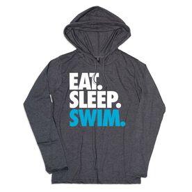 Men's Swimming Lightweight Hoodie - Eat Sleep Swim