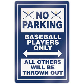 """Baseball 18"""" X 12"""" Aluminum Room Sign - No Parking Sign With Crossed Bats"""