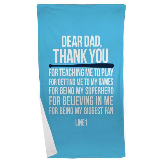 Softball Beach Towel Dear Dad