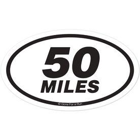 50 Miles Oval Car Magnet
