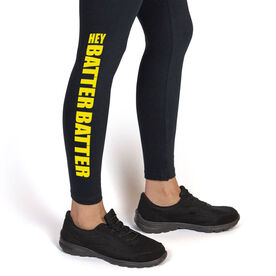Softball Leggings Hey Batter Batter