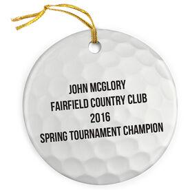 Golf Porcelain Ornament Ball