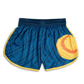 Lightning Softball Shorts - Navy