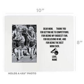 Cheerleading Photo Frame - Dear Mom Heart