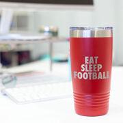 Football 20 oz. Double Insulated Tumbler - Eat Sleep Football