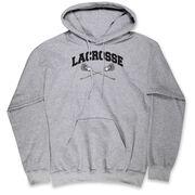 Guys Lacrosse Hooded Sweatshirt - Crossed Sticks