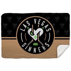 Sherpa Fleece Blanket - Las Vegas Sinners Logo