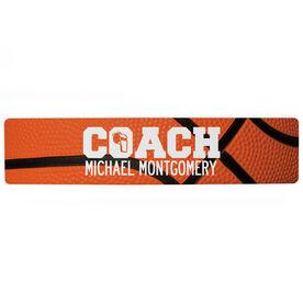 "Basketball Aluminum Room Sign - Coach Basketball  (4""x18"")"