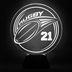 Rugby Acrylic LED Lamp Pass Jersey Number