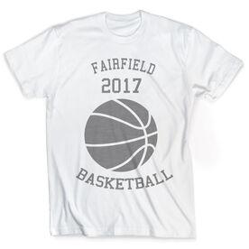 Vintage Basketball T-Shirt - Ball With Team