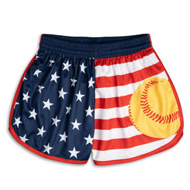 Patriotic Softball Shorts
