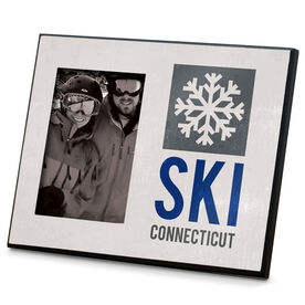 Skiing Photo Frame Ski Flake