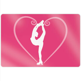 "Figure Skating 18"" X 12"" Aluminum Room Sign - Heart Skater"