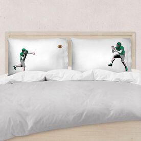 Football Pillowcase Set - Go For The Pass