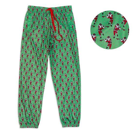 Guys Lacrosse Lounge Pants - Santa