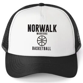 Basketball Trucker Hat - Team Name With Text