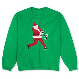 Baseball Crew Neck Sweatshirt - Home Run Santa