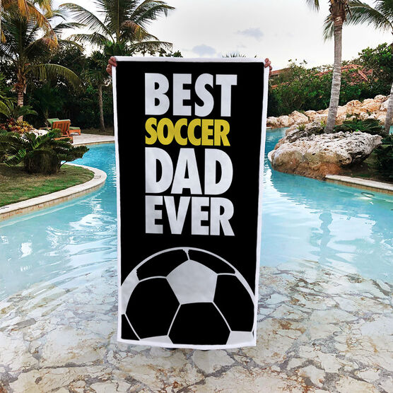 Soccer Premium Beach Towel - Best Dad Ever